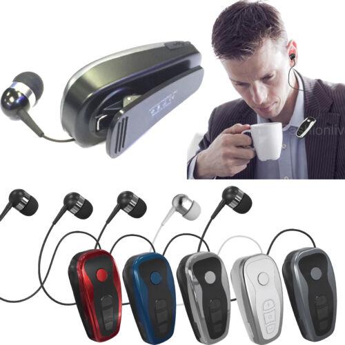 Business Wireless Stereo A2DP Bluetooth Headset w/ Collar Cl
