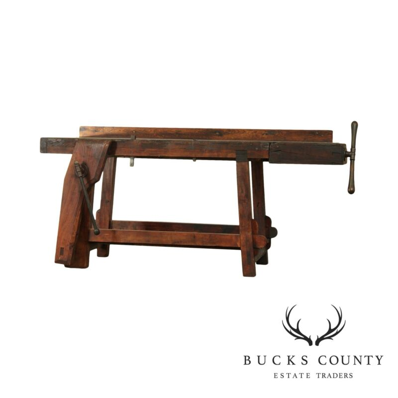 Antique Berks County Pennsylvania Carpenters Work Bench