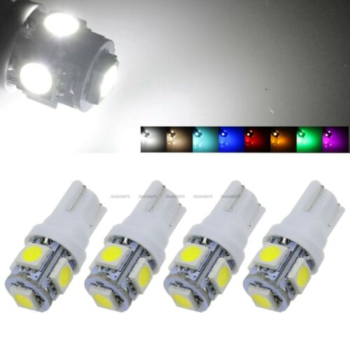 4 Pcs T10 5 SMD 5050 LED Light Car Bulb 168 194 W5W 2825 158 Width Tail Lamp 12V