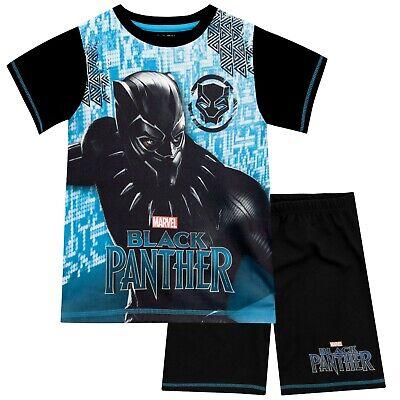Marvel Black Panther Pyjamas | Boys Black Panther PJs | Kids Marvel Pyjama Set Boy Black Pjs Pajamas