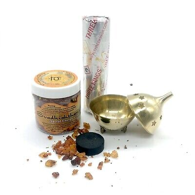 - Resin Incense Burner Charcoal Combo Pack Sacral Chakra Svadhistana Sensuality