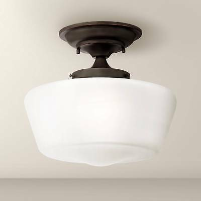 Schoolhouse Ceiling Light Semi Flush Mount Fixture Bronze 12