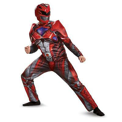 New Red Ranger Muscle Adult Power Rangers Movie Costume Size M 19561 - Adult Power Rangers Kostüm