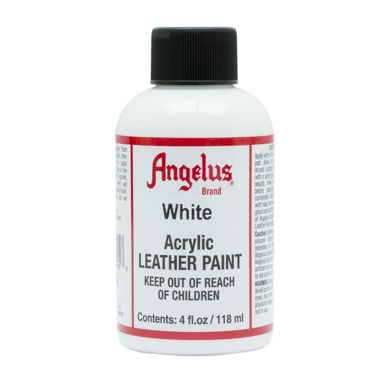 Angelus White acrylic leather paint / Dye 4 oz bottle NEW For Shoes Bags Boots Crafts