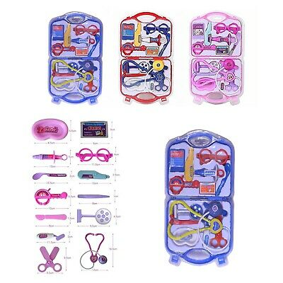 Kids Doctor Nurse Carry Case Medical  Play Set Role Play Toy Kit Best Gift