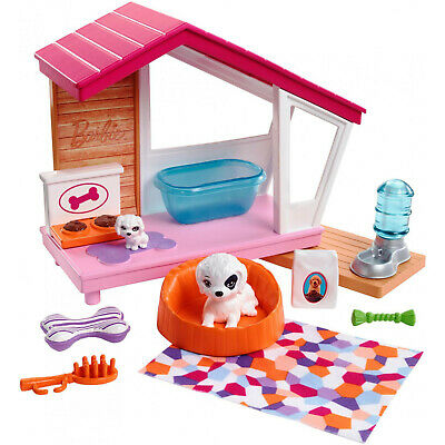 New Barbie Puppies and Dog House Indoor Furniture Playset, Puppy Playhouse
