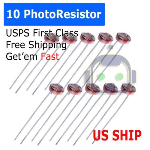 10pcs Photoresistor 5MM GL5537 LDR Photo Resistors Light-Dependent Resistor