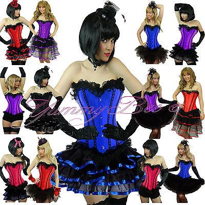Corset Tutu Dress (Burlesque Corset Tutu Fancy Dress Costume Plus Size 6-28 Moulin Can Hen Night)