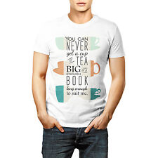 Designer Tea Cup Printed T shirt Sports Wear White Round Neck