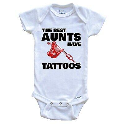 The Best Aunts Have Tattoos Funny Baby Onesie - Niece Nephew One Piece