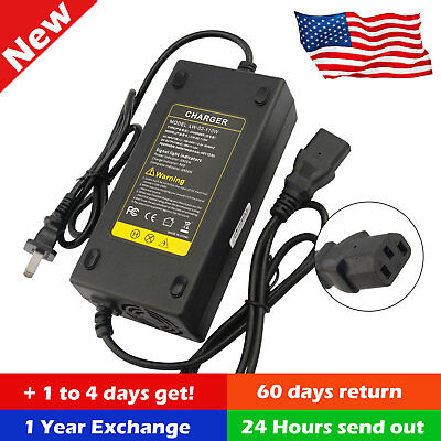 - 48V Volt 2.5A Battery Charger for Electric Car E-bike Scooter With Adapter Smart
