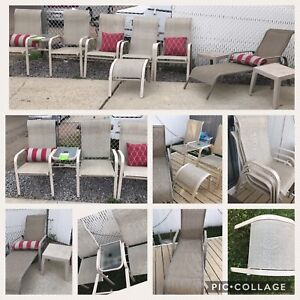 8 pc Patio furniture set with cushions
