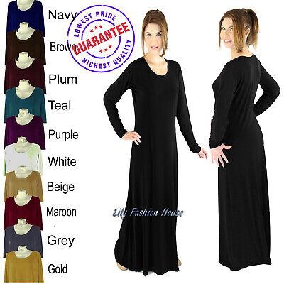 Ladies Plain Jersey Abaya Burkha Jilbab Long Maxi Dress (Stretch Material)