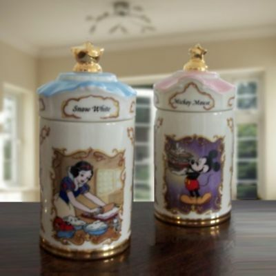 2 Lenox Disney Decorative Jars* Mickey Mouse & Snow White *Gift Idea*Trinket Box ()