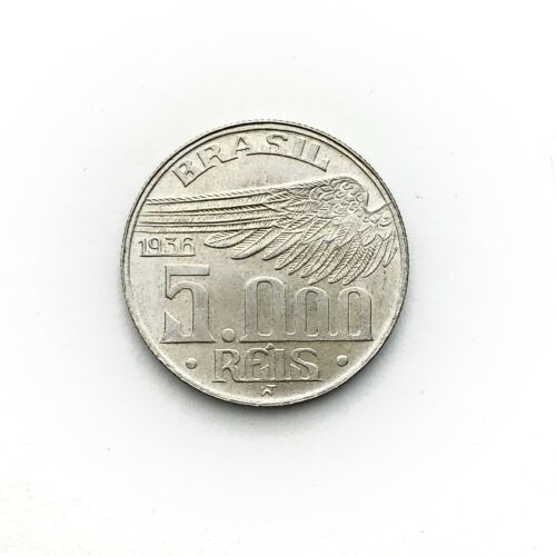 1936 Brazil 5000 Reis (Many Available) High Grade! (1 Coin Only) Silver!