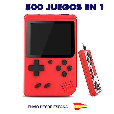 CONSOLA JUEGOS PORTATIL MINI RETRO estilo GAME BOY 500 JUEGOS CON MANDO
