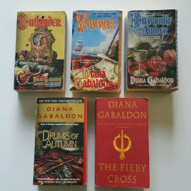 *1st Ed 1st Print*  Bks 1-5, Outlander, Dragonfly in Amber, Voyager, Gabaldon PB