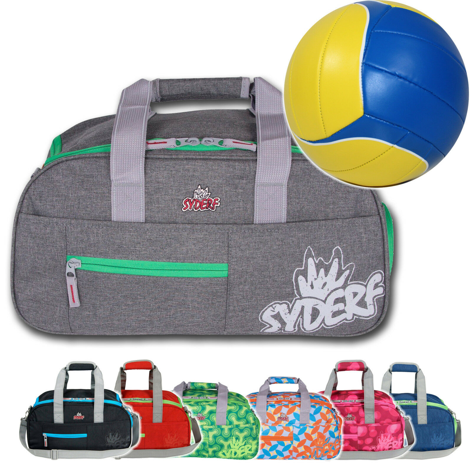 92e7e2503bf6f SPORTTASCHE + VOLLEYBALL Mädchen Junge Kinder Sport Schule Syderf five ~SY3  100+