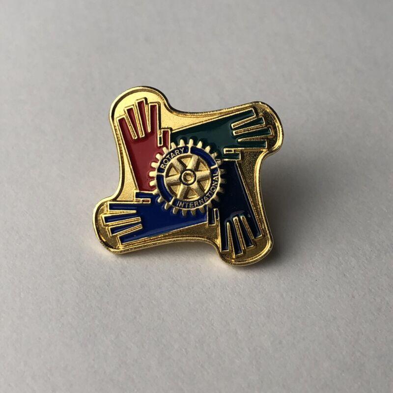 "Rotary International Pin   ""HANDS"" Russell Hampton"