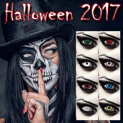 rbige Kontaktlinsen Halloween Werewolf Vampir Zombie Kostüm (Gelbe Kontaktlinsen Halloween)