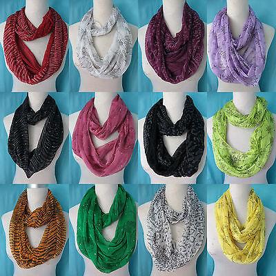 *US SELLER*lot of 10 infinity loop scarf Wholesale Bulk Fashion Scarves