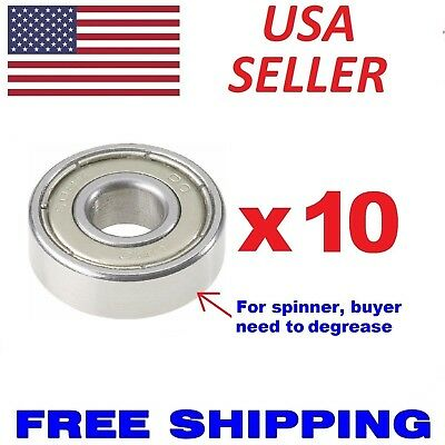 10pcs Bearings 608zz 8x22mm Skate Metric Ball Bearings Fidget Spinner Abec 5 7