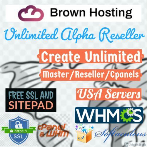 🔥 Unlimited Alpha Master Reseller Web hosting Free SSL SSD Fast Servers Monthly