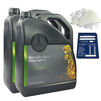 Original Mercedes-Benz Motoröl 10 Liter 5W30 229.51 inkl. Trichter + Anhänger online kaufen