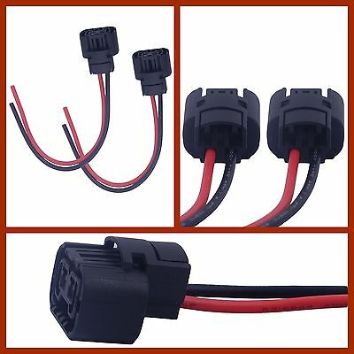 2X 5202 H16 2504 PS24W Connector Wire Pigtail Harness Fog Light Chevy Silverado  Deco Halogen Light Bulb