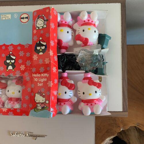 HELLO KITTY Sanrio 10 Light Set 2001 Indoor New PINK