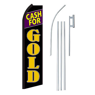 Cash For Gold 15 Complete Swooper Flag Starter Kit Bow Feather