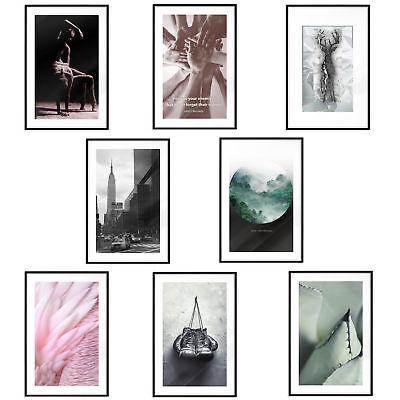 Poster mit Rahmen Bilder gerahmte Wandbild Kunstdruck BilderRahmen b-A-0404-ao-a