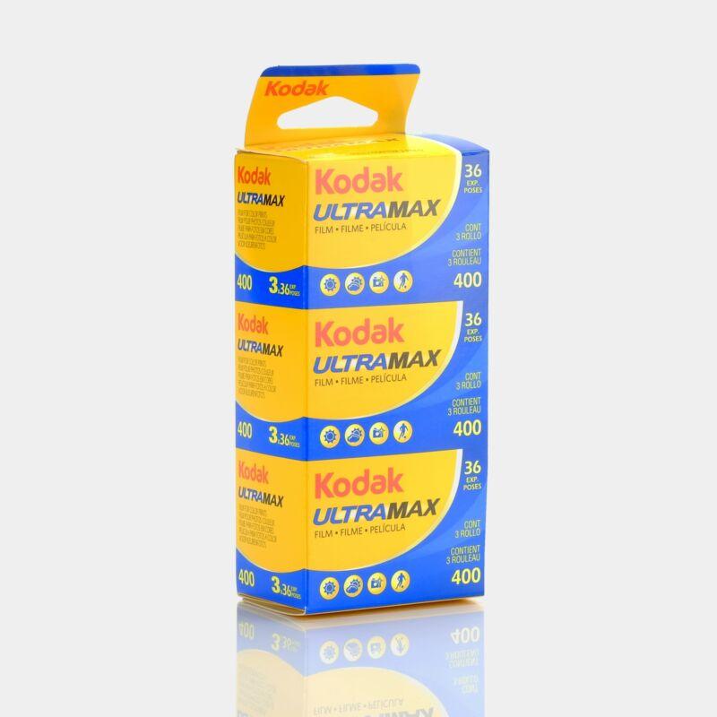 Kodak UltraMax 400 Color Negative 35mm Film (36 Exposures) - 3 Pack