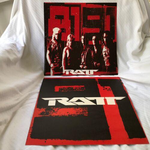 RATT Detonator  2-sided 12 x 12 Promo LP Flat / Poster - RARE