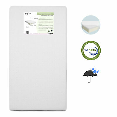 Baby & Toddler Memory Foam Crib Mattress with Waterproof Bam