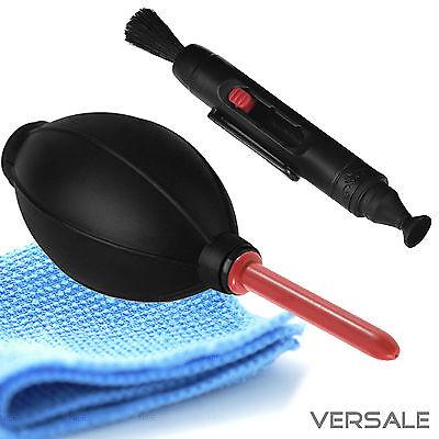 Blasebalg Lenspen Microfasertuch Kamera Objektiv Reinigung Reinigungsset Sensor