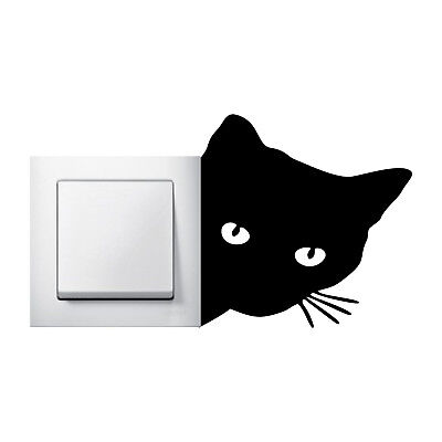 Lustige Aufkleber (Katzenkopf Aufkleber Wall sticker lustige Wandtattoo )
