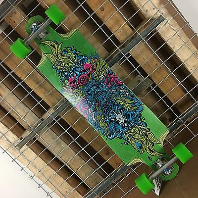 New Santa Cruz Green Sea God Cruz Control Complete Skateboard 9.96 x 37.97in