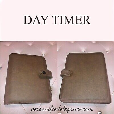 Day Timer 7-ring Brown Faux Leather Agenda Binder