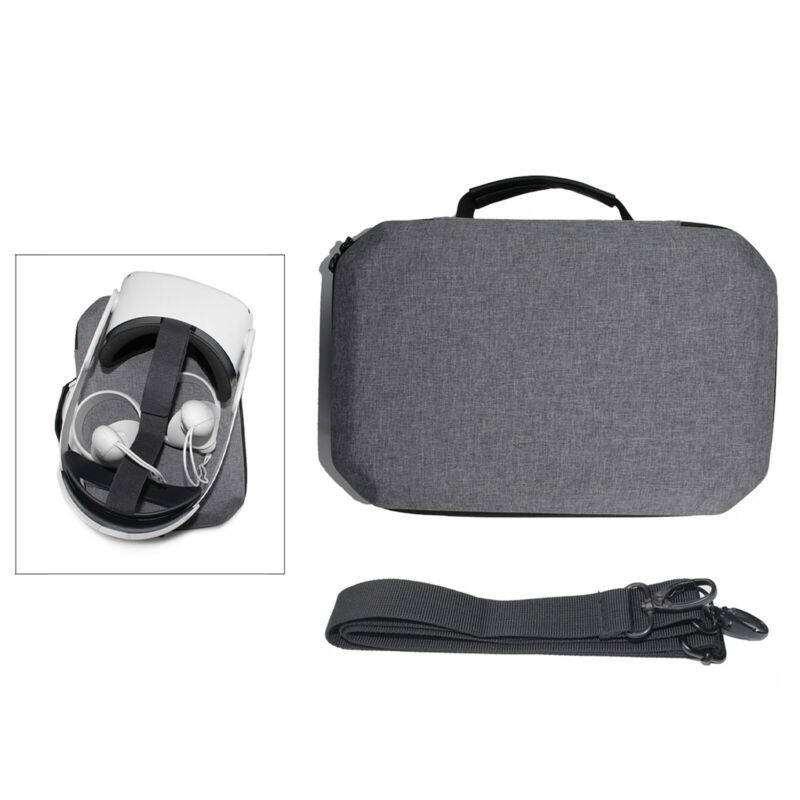Travel Carrying Protective Case for  Quest 2 VR Gaming Headset Storage Bag