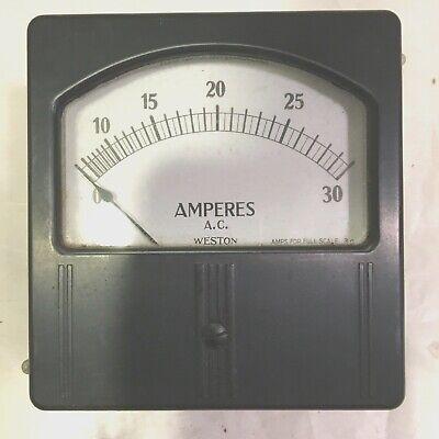 Weston Ac Amp Meter Model 744 30 Amps