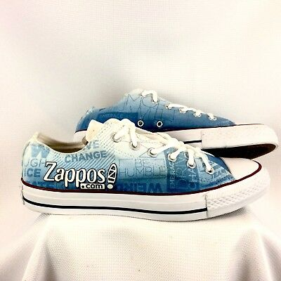 Custom Converse Ox Low Zappos Employee Sneaker Mens Sz 8 Womens 10. NWOB