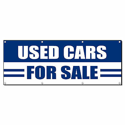 Used Cars For Sale Auto Body Shop Banner Sign 4 Ft X 2 Ft  W 4 Grommets