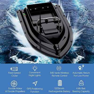 500m RC Kabellos Futterboot mit GPS Köderboot Baitboat Fischerköder Boot2kg M7T1