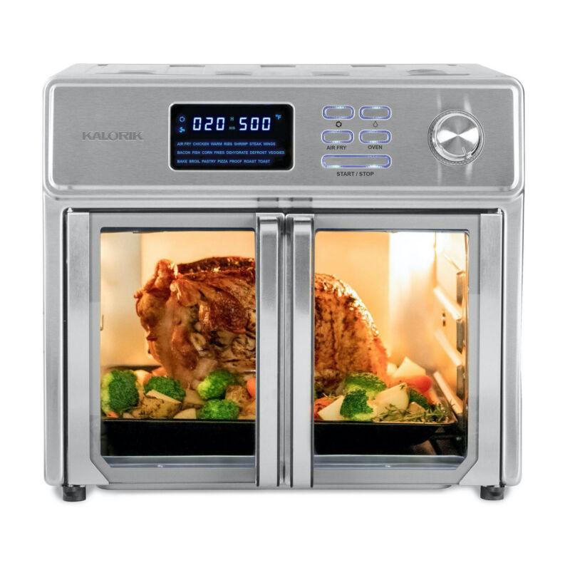 Kalorik 26-Quart Digital Maxx Air Fryer Oven with 7 Accessories Refurbished
