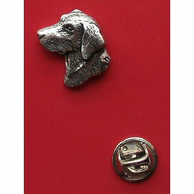 English Pewter LABRADOR Dogs Head Pin Badge Tie Pin/Lapel Badge  (ref A23)