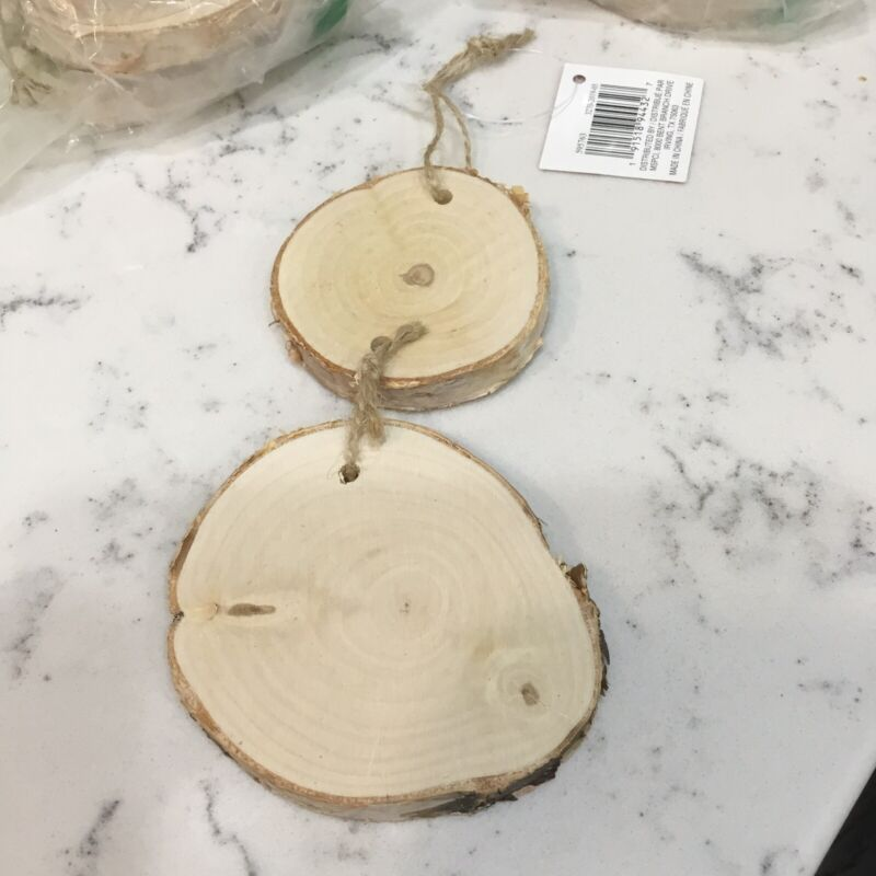 Art Minds DIY Birch Wood Hanging Christmas Ornament Craft Set Of 10