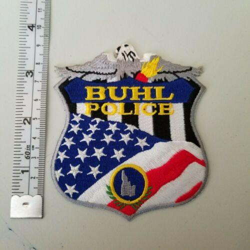 "Buhl Idaho patch 4"" ID American flag bald eagle"