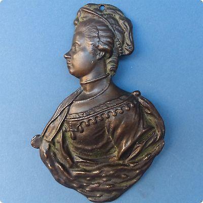 Late 18th Century Bronze Profile of Princess Charlotte