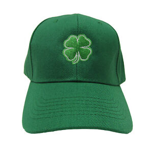 Irish St. Patricks Day 4 Leaf Clover Shamrock Green Baseball Cap Hat 944cc4cf6d00
